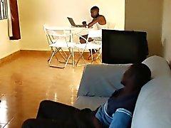 Африканского любитель сосать Би вслед потянув