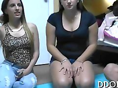 Arousing and hot masturbation party