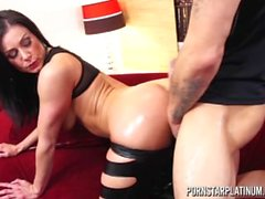 PornstarPlatinum - Kendra Lust oiled up fuck