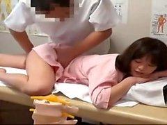 hemşire üniformalı Asyalı amatör