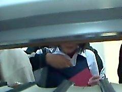 Young школьницы нащупали в Library