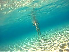 Nudist meisjes onderwater