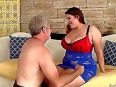 Beautiful plumper Angel DeLuca hardcore sex