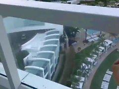 Hotel Balcony Fun Vacation