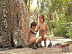 allievi ufficiali army fare fuori i in foresta