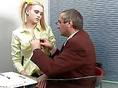 Playgirl gets her lovely slit ravished by teacher