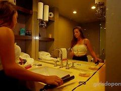 Hot amatööri teini huijaaminen poikaystävänsä motellihuoneessa