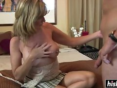 Cute mommy loves to suck and ride