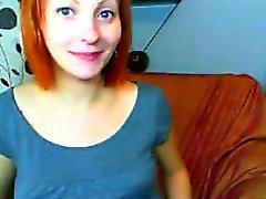 Raskaaksi punatukkainen söpöläinen Jatkopistorasiat At Home