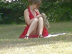 Sottogonna in giardino per