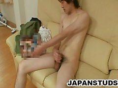 Kazushi Tazawa - dünn Japans Bolzen Hahn Wanking
