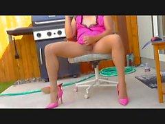 cd lisas orgasm in teddy pantyhose and heels