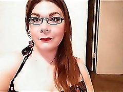 Chubby SheMale with small dick on cam.