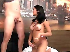 White dude ass fucked bareback by a tgirl