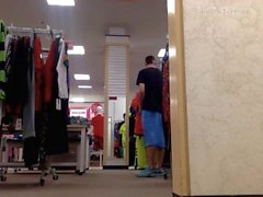 Department Store Jerk off in Public