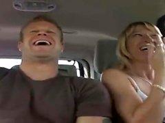 Hardcore Blonde Wife In Van