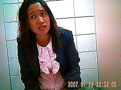 Came de escondido no toalete de escritório tailandesa