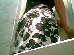 Pantyhose pipi Spycam en El boda de WC