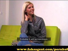 FakeAgent Super skinny model goes all the way in Casting