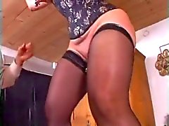 dos puño de anal vaginal por un subsmissive Gordas madurez