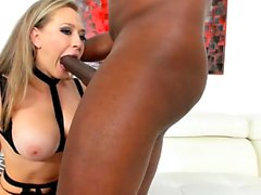See Kagney Linn Karter getting blacked on live cam