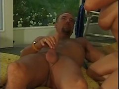 Hot group sex party at the pool side