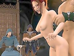 Pornografía del gangbang 3D de
