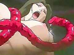 Bir azgın tentacle tecavüz orgy