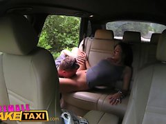 Female Fake Taxi Expert pussy licking makes driver cum
