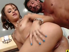 Petite Holly Hendrix finds a monster to plow