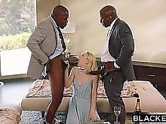 Peitetyn Submissive tyttöystävälle rangaistava kaksi mustaa men