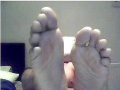 Guys rectilignes les pieds sur webcam la # de 491