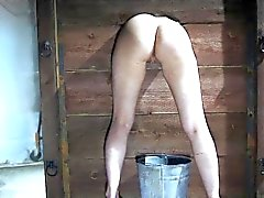 Enslaved whore punished with hot wax
