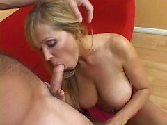 Busty blonde Sarah Vandella takes on a big cock from behind