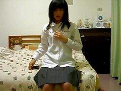 menina chinês peludo na cam
