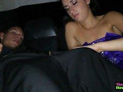 Prom Night tonårs knullad på Limousine