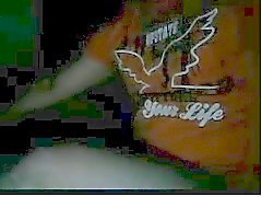 Geraden Männer Füße auf Webcams # 3.