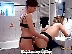 Calda Lesbian Strapon Azione