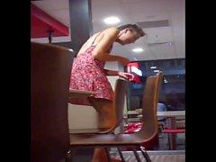 Gaja boa upskirt caught at McDonalds!