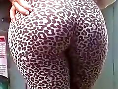 Vaivén culo Tight de leggins de leopardo de