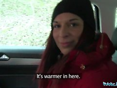 Agente Pubblico Jessica Red ottiene contanti per Sex Deal in un'auto