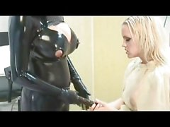 Heavy Rubber Strap-on Fucking