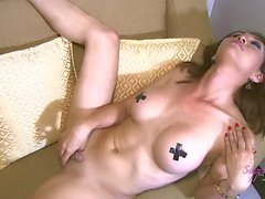 Beautiful Shemale Masturbates And Sucks Boyfriends Cock Until She Cums