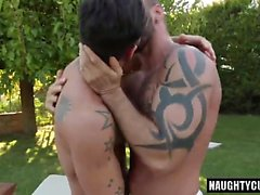 Tattoo gay flip flop and cumshot