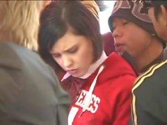Vita skolan tonåring likformig famlade i Bussar Integritet Publikt Amwf