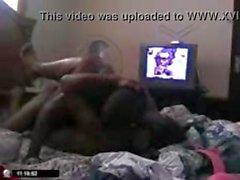 Ebony çift kamerası izlerken jiggy ve lanet oluyor