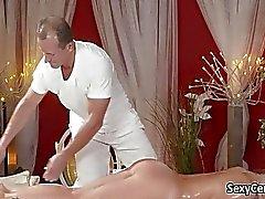 De la señora el checo creampied después de masaje