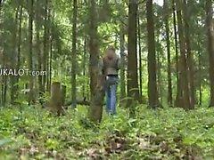 Боевики Blowjob в лесу
