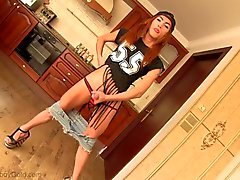 Hot ladyboy plumber teen horny blowjob and anal