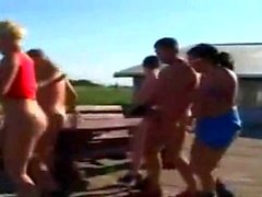 Mature German Outdoor Orgy